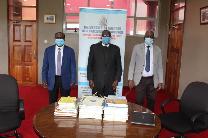 From left: Prof Nzioka J. Muthama, Prof. Gideon Nyamasyo and Prof. David Mungai