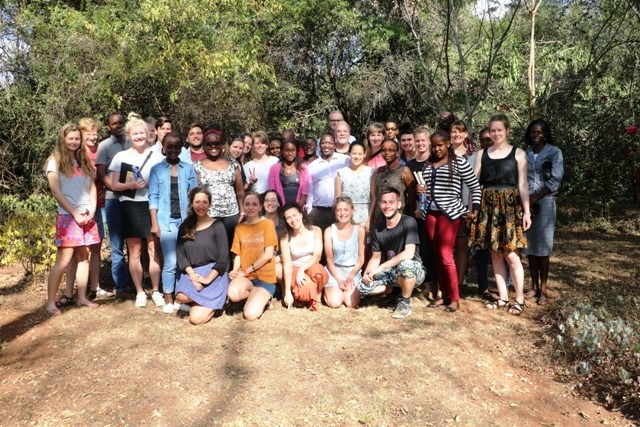 Faculty, Wangari Maathai Institute, University of Nairobi and Danish Universities and students group photo ahead of the SLUSE 2017 hands-on program