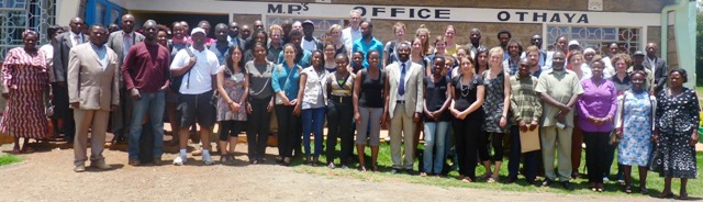 Director, WMI, some faculty members, students and members of the community in Othaya posing for a photo after conclusion of the SLUSE 2014 training
