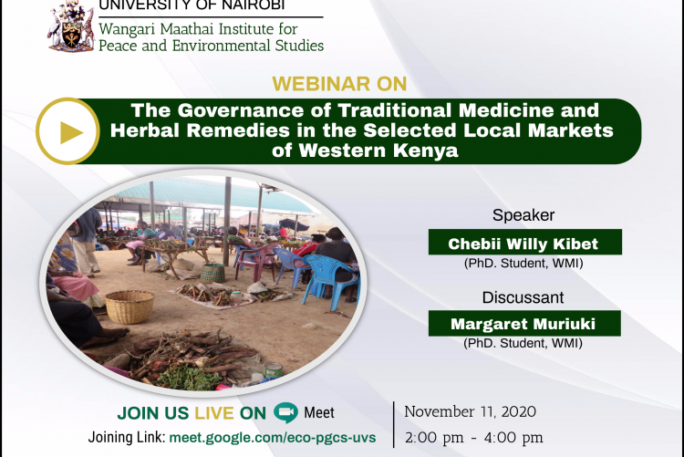 The Governance of Traditional Medicine and Herbal Remedies in the Selected Local Markets  of Western Kenya