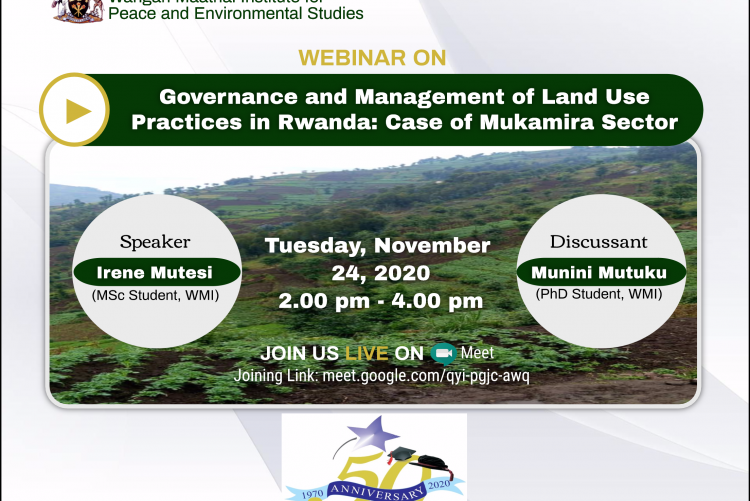 Webinar: Governance and Management of Land Use Practices in Rwanda: Case of Mukamira Sector