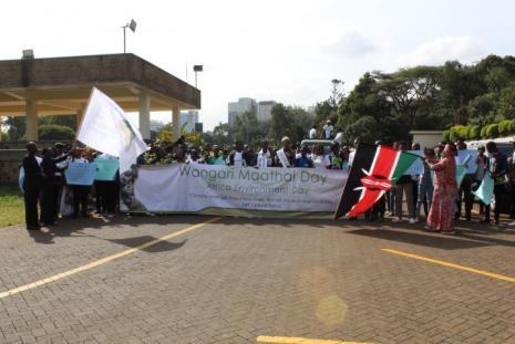 Flagging off of the Wangari Maathai Day/Africa Environment Day Celebrations at the University of Nairobi, Chancellor's Court on March 3, 2020
